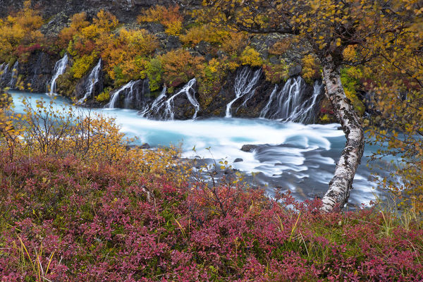 Hraunfossar waterfall, West of Iceland, September 2013