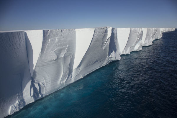 Ross Ice Shelf, the largest ice shelf of Antarctica, near Cape Crozier, Ross Island