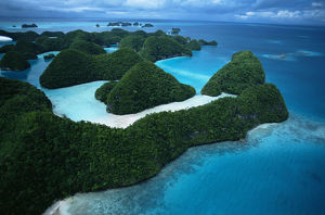latest highlights/highlights 2009/aerial view rock islands palau micronesia december