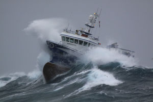 latest highlights/highlights 2011/fishing vessel harvester powering huge waves
