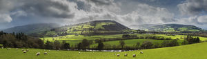 phil savoie/panoramic usk river valley monmouthshire wales