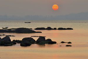 wild wonders china/rocks yellow sea coast sunset yangma island yantai